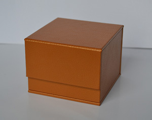 leather wrapped video gift box screen panel lid boxes