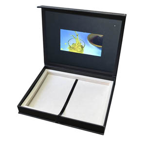 video gift box deluxe packaging promotional item retail