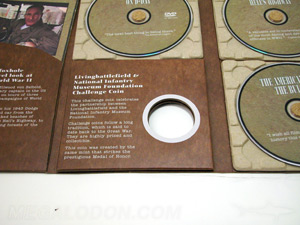 dvd set digipak paper tray recycled paper set  die cut hole