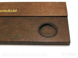 special printing effects custom dies coin round cut out printed fiberboard packaging