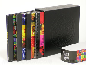 leather vinyl cd dvd box set debossed digipaks spiral notebook belly band