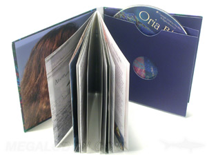 soft cover cd book swinging sleeve inner pages jacket