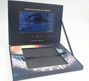 video box lcd monitor in lid hold book 7 inch screen